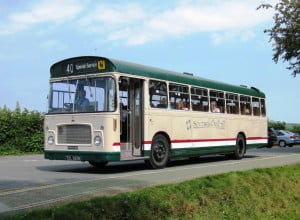 Bristol RELL, No. 863 (TDL563K) is seen at Carisbrooke Castle