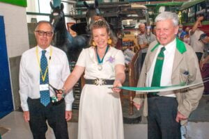 Isle of Wight Bus Museum official re opening of display area 2