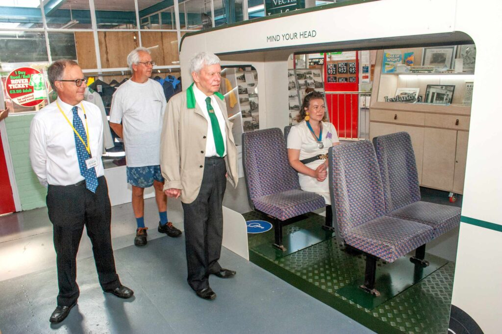 Isle of Wight Bus Museum official re opening of display area 3
